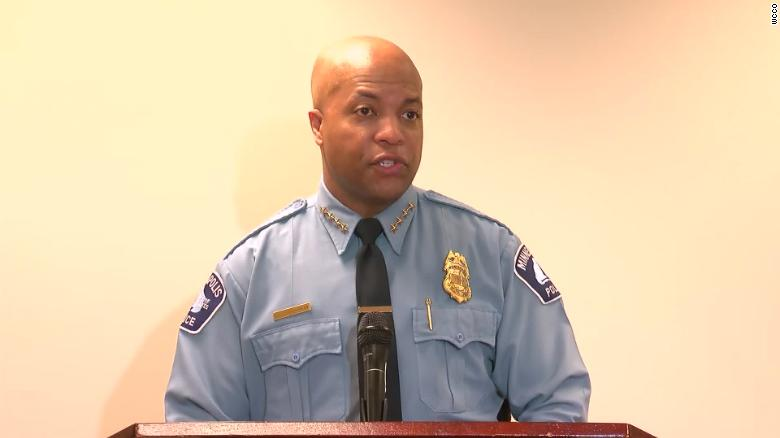 Minneapolis Police Chief Medaria Arradondo says the officers involved have been placed on leave.