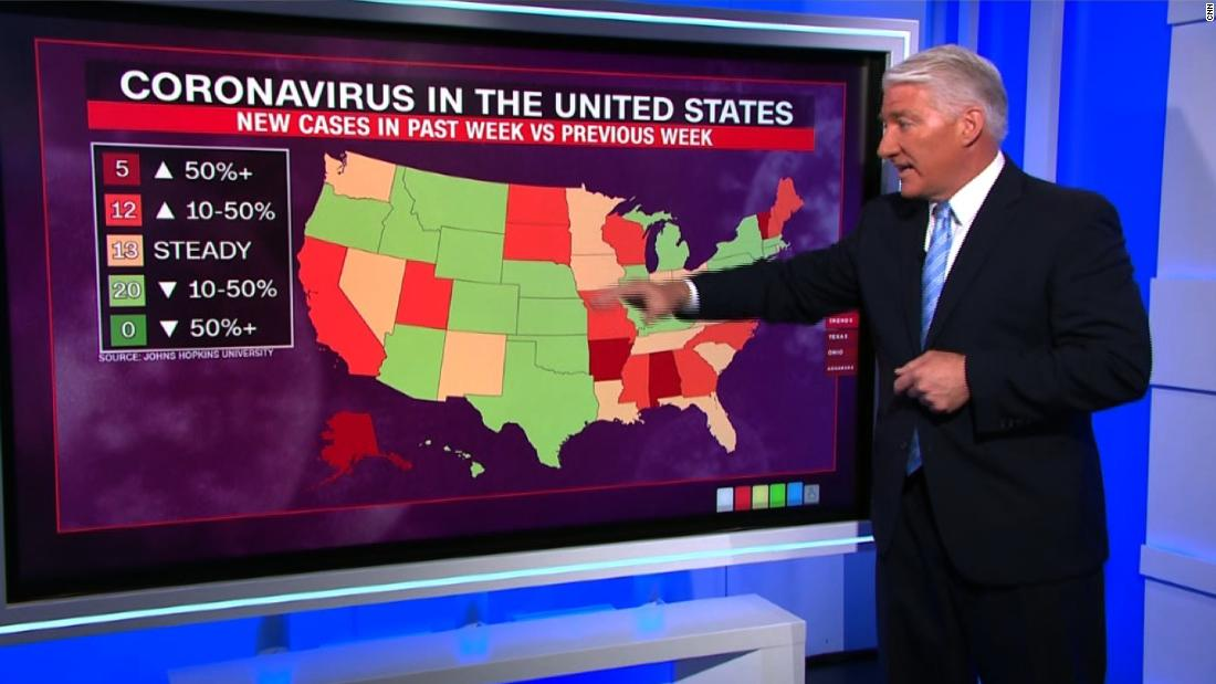 CNN's John King crunches US coronavirus numbers as states reopen