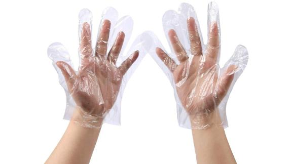 Plastic Disposable Gloves, 500-count