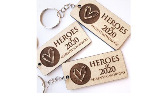 Heroes of 2020 Keychain