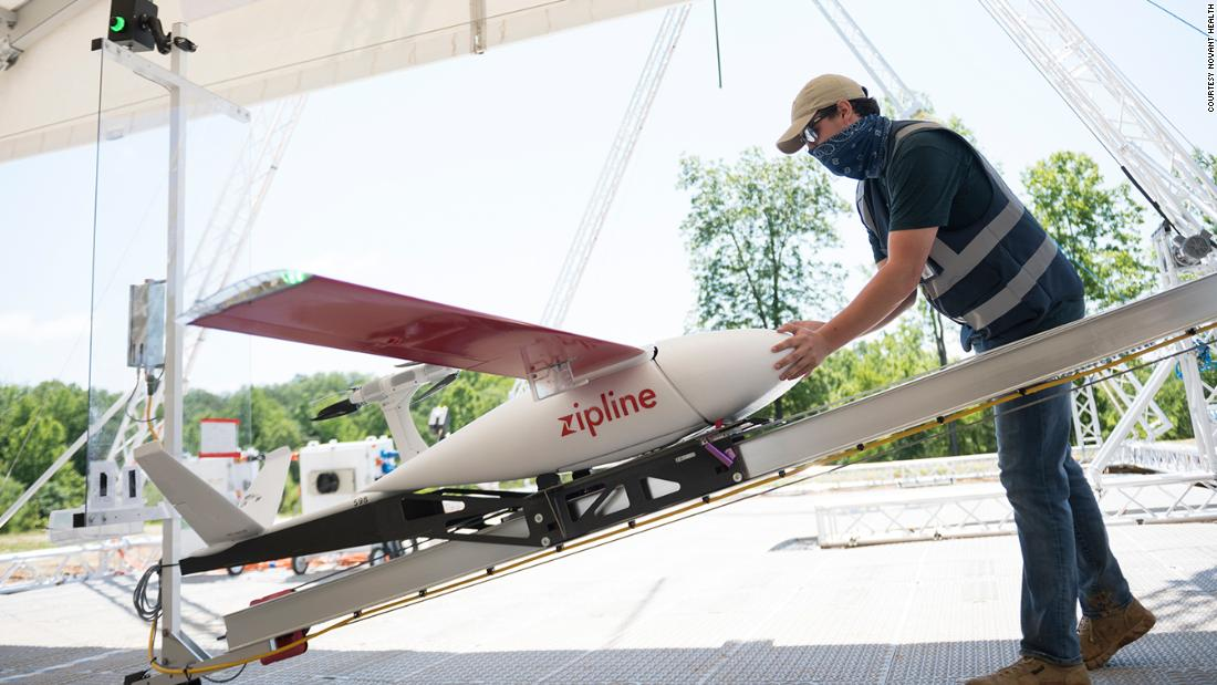 North Carolina hospital turns to drones to aid Covid-19 response