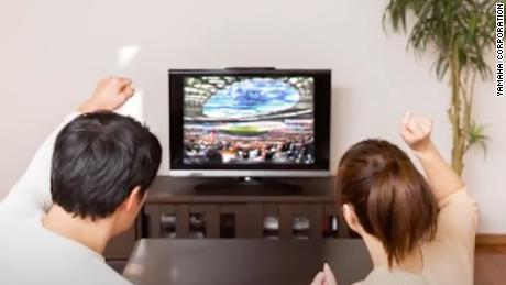 "Fans watching the game remotely can use ""Remote Cheerer"" to broadcast sounds inside the stadium."