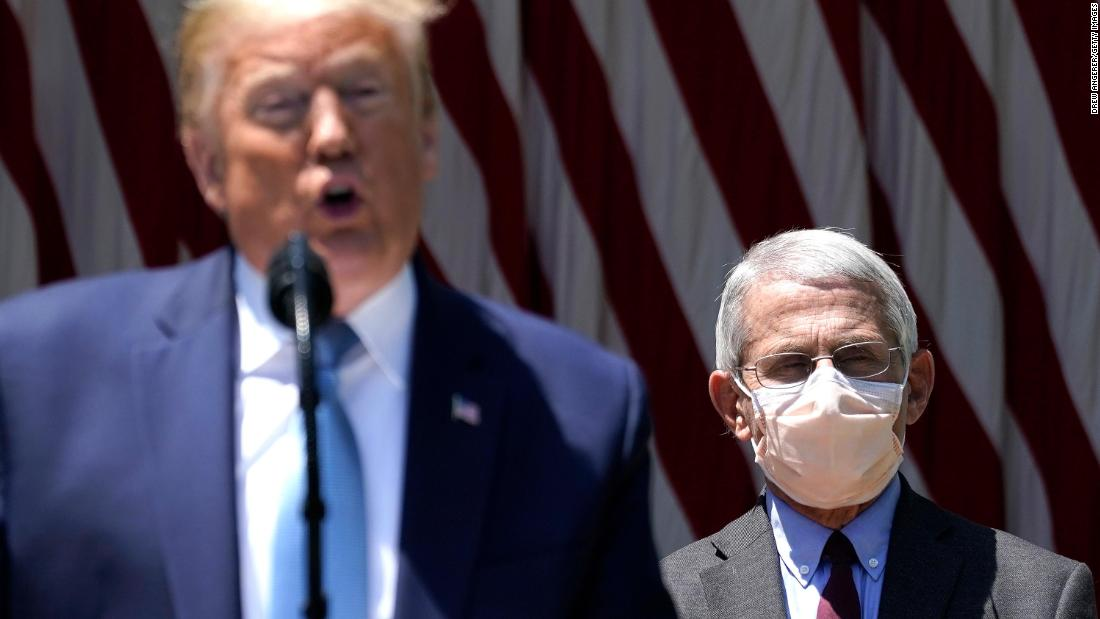 Fauci says he wears a mask to be a symbol of what 'you should be doing' - CNNPolitics
