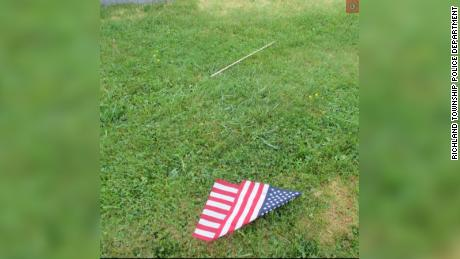 Over the last three days, over 100 flags were torn from their posts and placed at the graves of veterans.