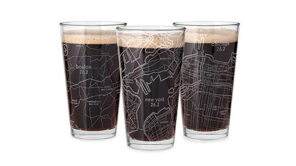 Etched Marathon Pint Glass