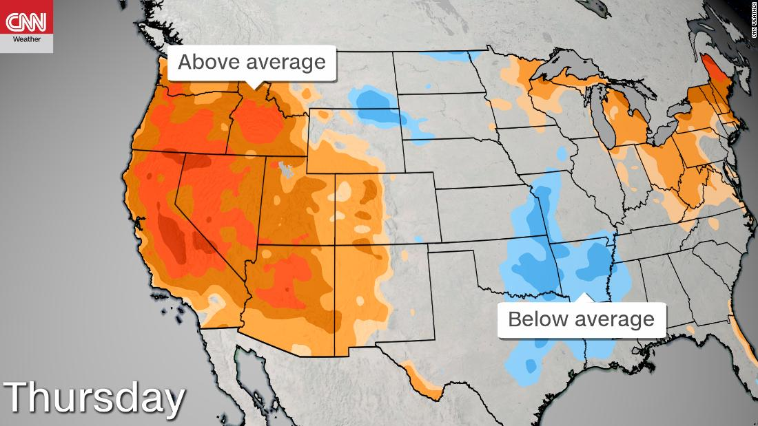 The western US will bake in record heat this week