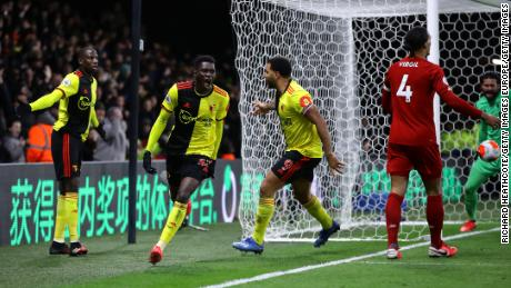 Watford stunned Liverpool to inflict the Reds' first defeat of the Premier League season.