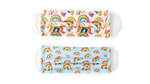 Children's Rainbow Face Coverings, Set of 2