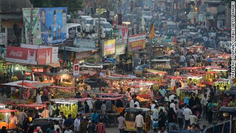 The old city of Hyderabad, the capital and largest city of the southern Indian state in Andhra Pradesh.