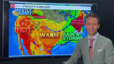 daily weather forecast weekend severe storms eastern US record heat west rainfall _00000000.jpg