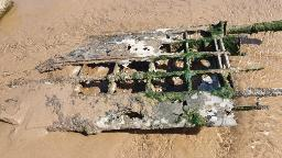 WWII aircraft buried by sand discovered on English beach after 76 years