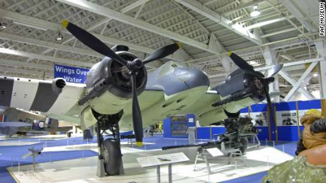 Un esempio ben conservato di Bristol Beaufighter TF.X al RAF Museum di Londra.