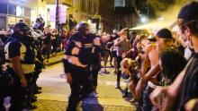 Police pepper spray protesters near the Ohio Statehouse in May.