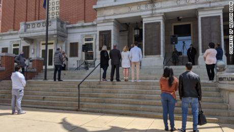 Officials in York County, Pennsylvania, started holding citizenship ceremonies outdoors due to the coronavirus pandemic.