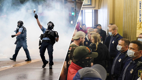 The protest pictures alone tell the story of America's racial hierarchy