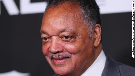 US civil rights activist Jesse Jackson arrives for the 10th Anniversary CORE (Community Organized Relief Effort) Gala at the Wiltern theatre in Los Angeles on January 15, 2020. - CORE (formerly known as J/P HRO) is marking the 10th anniversary of both the devastating 2010 Haitian earthquake and the subsequent founding of this organization by Sean Penn. (Photo by Jean-Baptiste LACROIX / AFP) (Photo by JEAN-BAPTISTE LACROIX/AFP via Getty Images)
