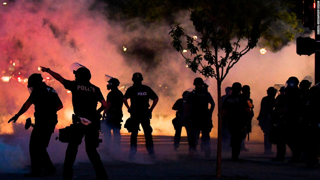 George Floyd: Protesters break curfew on another night of fury and ...