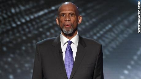 NBA Hall of Famer and  Presidential Medal of Freedom recipient Kareem Abdul-Jabbar speaks onstage during the 2016 ESPYS at Microsoft Theater in Los Angeles.