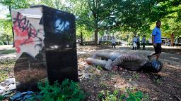 Protesters tried to remove a Confederate monument in Birmingham. The mayor told them he would finish the job