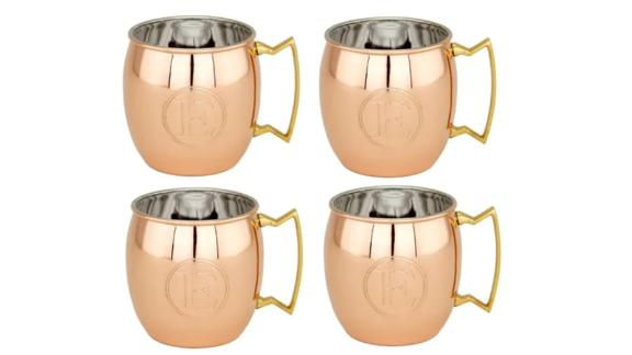Solid Copper Monogrammed Moscow Mule Mug