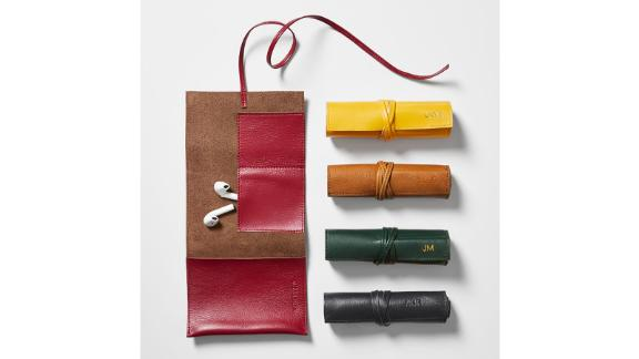Mark & Graham Leather Charger Roll Up