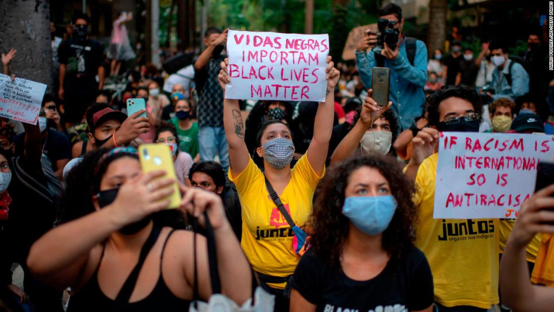 Protesters in Rio de Janeiro on Sunday.