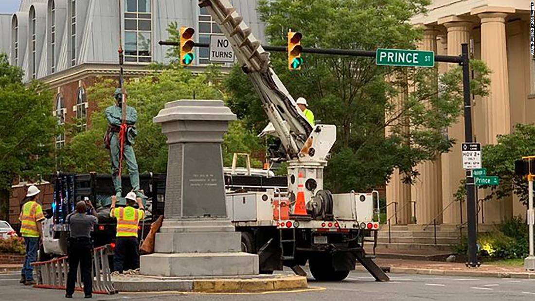 A controversial Confederate statue removed in historic Old Town Alexandria