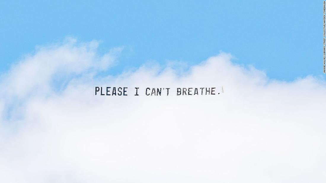 Artist Jammie Holmes Uses Sky Banners to Send George Floyd's Last Words Across the Skies of US Cities