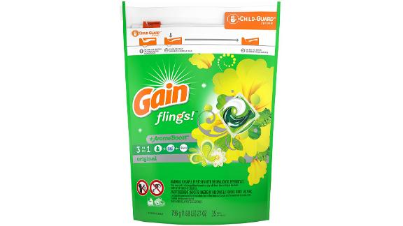 Gain Flings Liquid Laundry Detergent Pacs