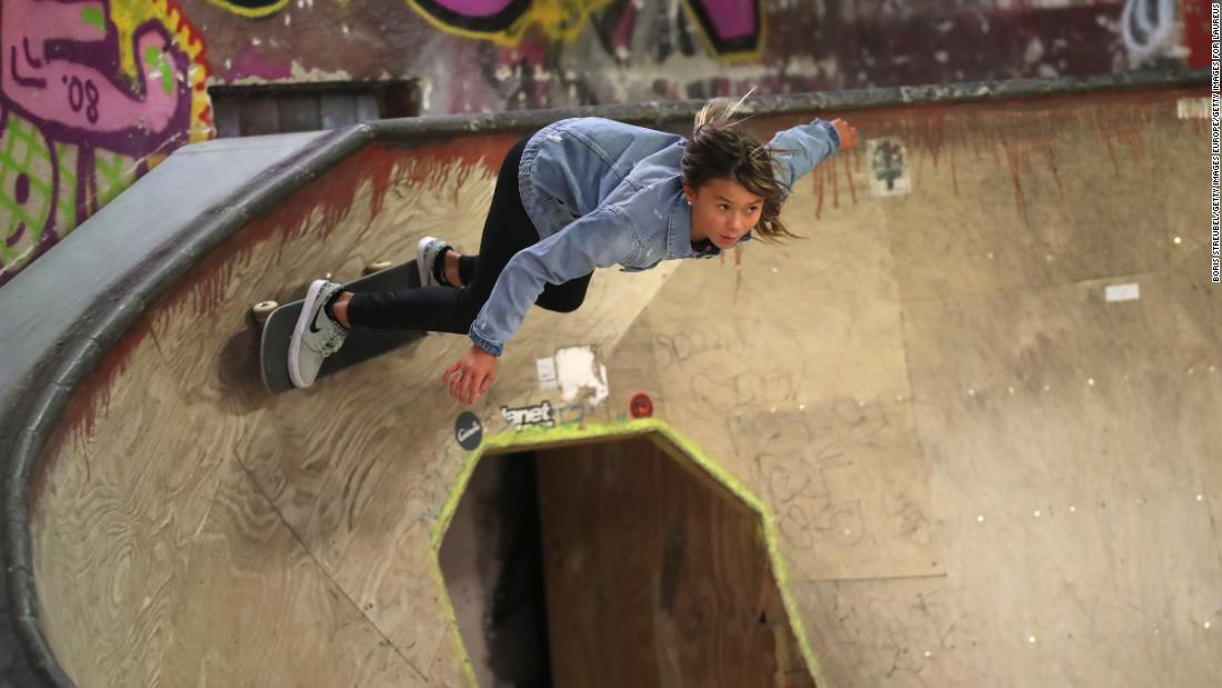 Skateboarder Sky Brown, 11, hospitalized after horrific fall