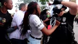 Video shows police pepper-spraying a protester. All he seemed to be doing was yelling