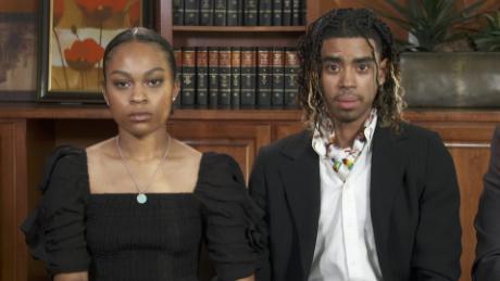 Student gets emotional describing violent arrest