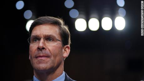 U.S. Secretary of Defense Mark Esper testifies during a Senate Armed Services Committee hearing concerning the Department of Defense budget in the Hart Senate Office Building on March 4, 2020 in Washington, DC.