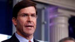 Trump remains confident in Defense Secretary Esper, White House says