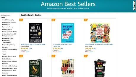 Most of the top 20 best selling books on Amazon are about racism in the US.