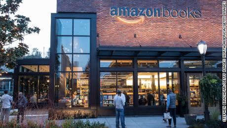 An Amazon Books store is pictured on November 4, 2015 in Seattle, Washington.