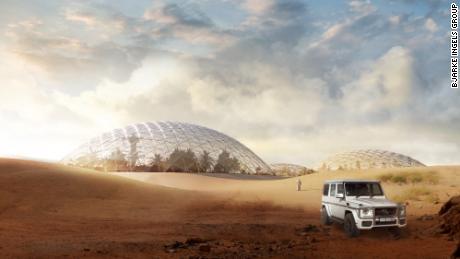 Οι αρχιτέκτονες έχουν σχεδιάσει μια πόλη του Άρη για την έρημο έξω από το Ντουμπάι