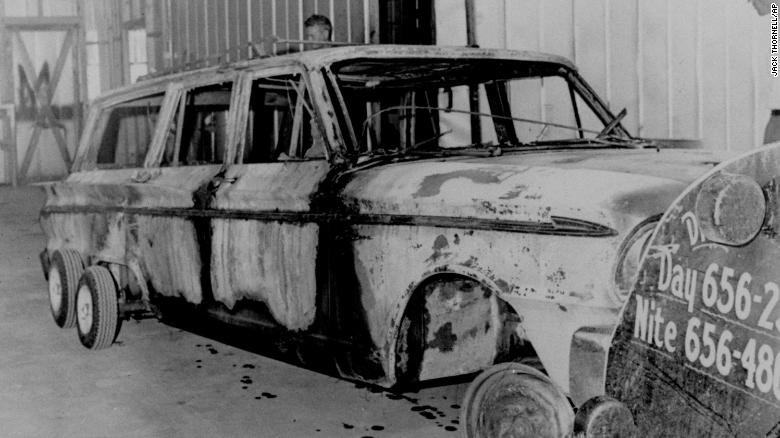 Investigators locked up the charred station wagon three civil rights activists who went missing during the 1964 Freedom Summer Project in Mississippi.