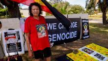David Dungay's mother Latona outside Long Bay Prison in Sydney in 2017.