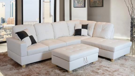 "Maumee 103.50"" Sectional with Ottoman"