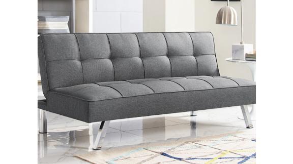 "Serta Twin 66.1"" Tufted Back Convertible Sofa"