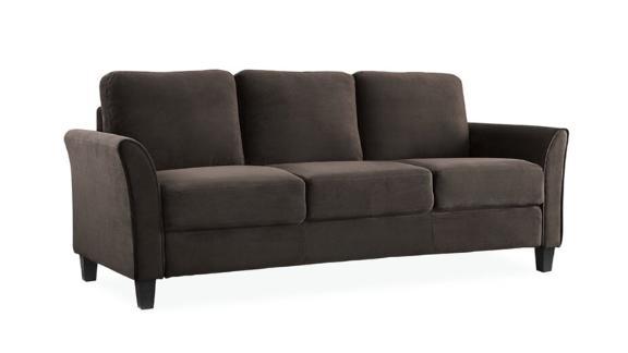 "Celestia Microfiber/Microsuede 78.8"" Flared Arm Sofa"