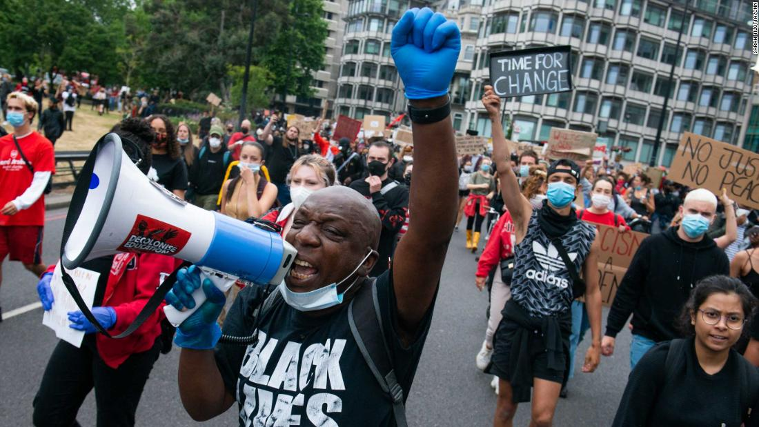 'The UK is as bad as America': Londoners mourn Floyd and demand justice at home