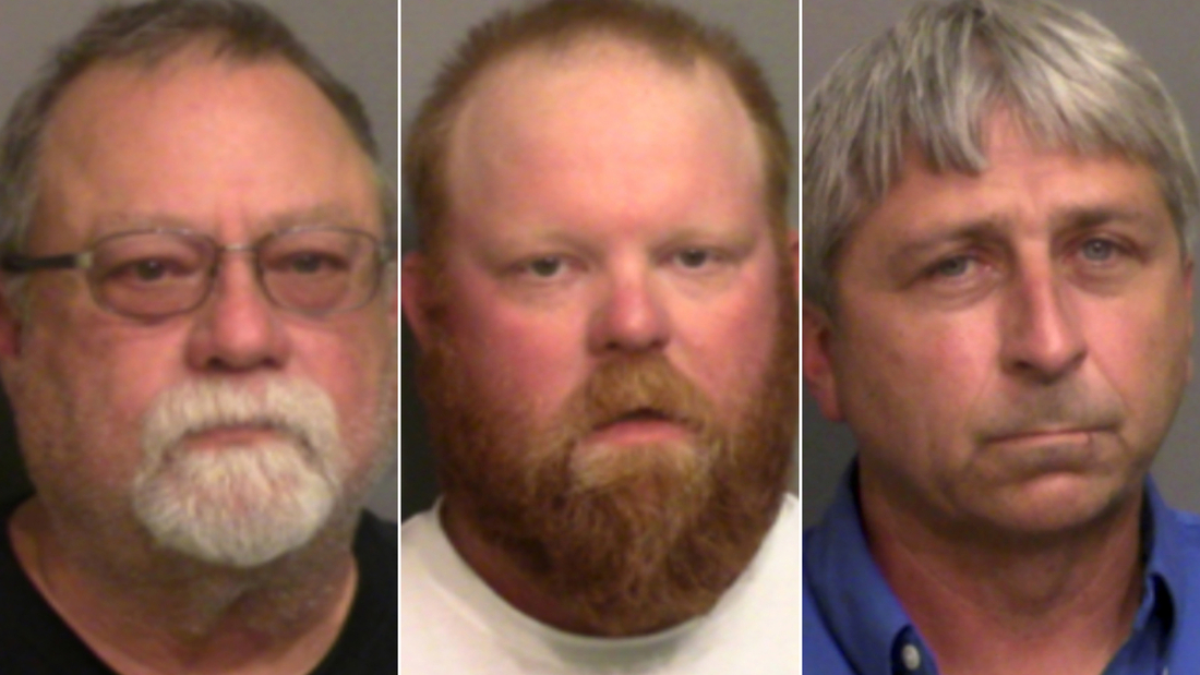 """Gregory McMichael, Travis McMichael and William """"Roddie"""" Bryan, Jr. faces charges in Arbery's killing."""