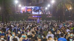 Thousands of Hong Kongers defy police ban to remember Tiananmen Square massacre