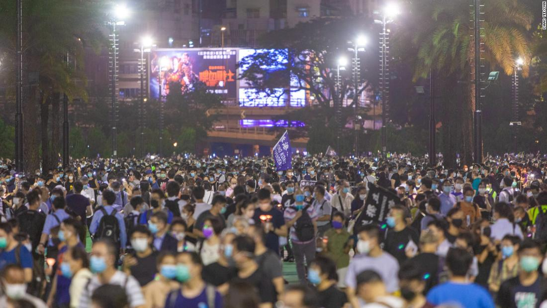 Hong Kong held a vigil that broke a government ban. See what it is like