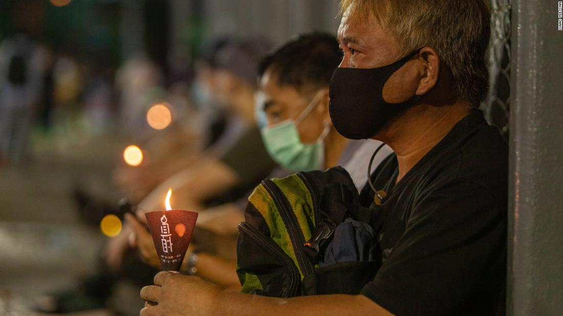 Thousands in Hong Kong defy police to remember Tiananmen massacre