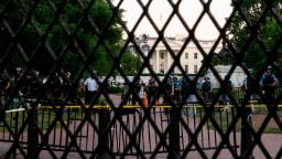 White House fortifies security perimeter ahead of continued protests
