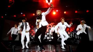 INGLEWOOD, CALIFORNIA - DECEMBER 06: (EDITORIAL USE ONLY. NO COMMERCIAL USE.) Jin, V, Jimin, J-Hope, and RM of BTS perform onstage during 102.7 KIIS FM's Jingle Ball 2019 Presented by Capital One at the Forum on December 6, 2019 in Los Angeles, California. (Photo by Rich Fury/Getty Images  for)