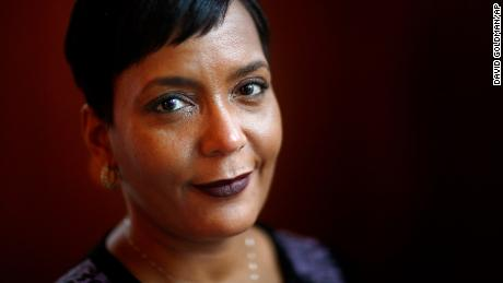 Mayor Keisha Lance Bottoms poses for a photo in her office in Atlanta, Thursday, Jan. 11, 2018. (AP Photo/David Goldman)